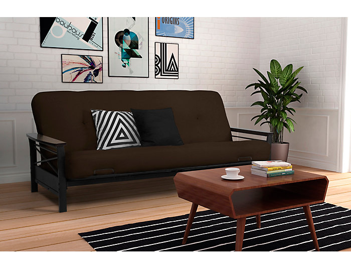 "Nadine Brown 6"" Futon Set, , large"