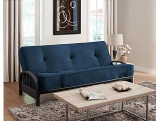 Aiden Cobalt Sofa Futon Set, , large