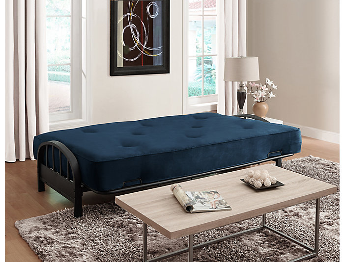 Aiden Cobalt Sofa Futon Set, , large