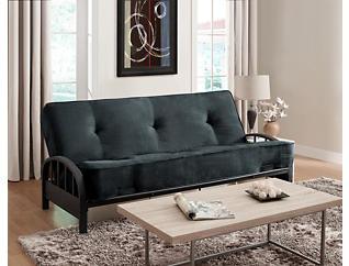 Aiden Grey Sofa Futon Set, , large