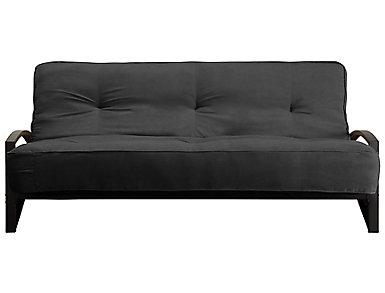 Alessa Grey Sofa Futon Set, , large