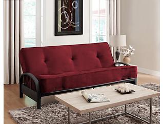 Aiden Merlot Sofa Futon Set, , large