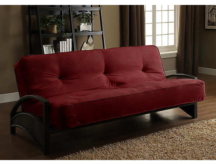 Alessa Merlot Sofa Futon Set, , large