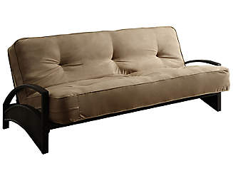 alessa tan sofa futon set clearance  u0026 discount futons   art van furniture  rh   artvan