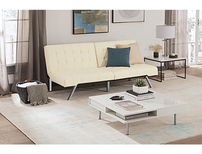 Emily Vanilla Sofa Futon Large