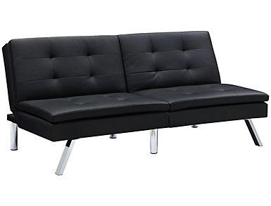 Chelsea Black Tufted Futon, , large