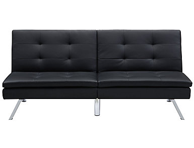 Chelsea Black Tufted Futon, , large