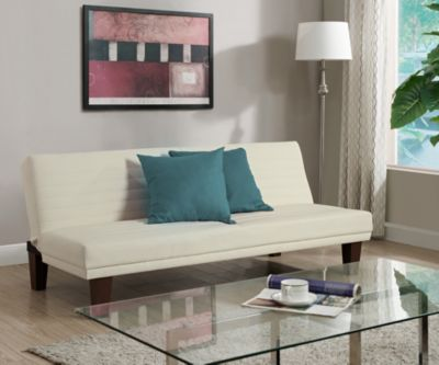 Dillon Sofa Futon, White, swatch