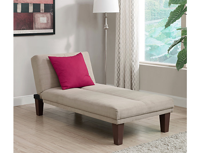 Dillon Tan Microfiber Chaise, , large