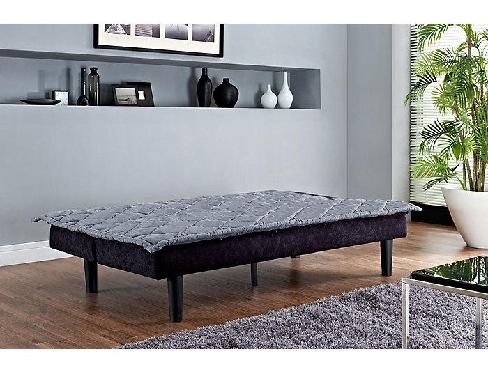 Lancaster Grey Sofa Futon, , large