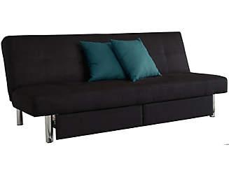 sola black storage sofa futon black sleeper futon   artvan  rh   artvan