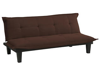 Lodge Brown Tufted Sofa Futon, , large