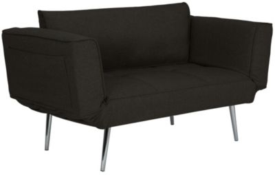 Euro Chair Futon, Black, swatch