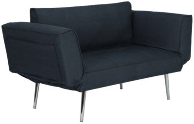 Euro Chair Futon, Blue, swatch