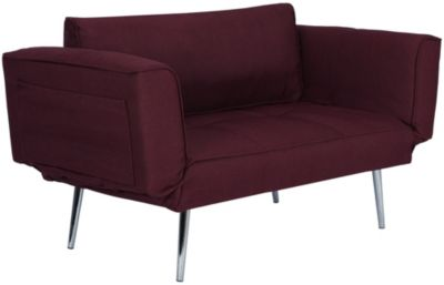 Euro Chair Futon, Red, swatch