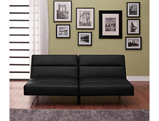 Studio Black Sofa Futon, , large