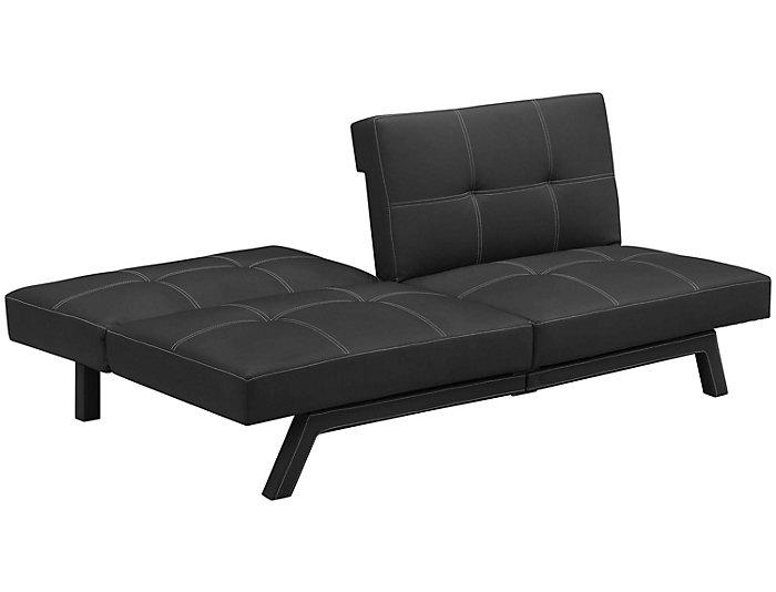 Delaney Black Sofa Futon, , large