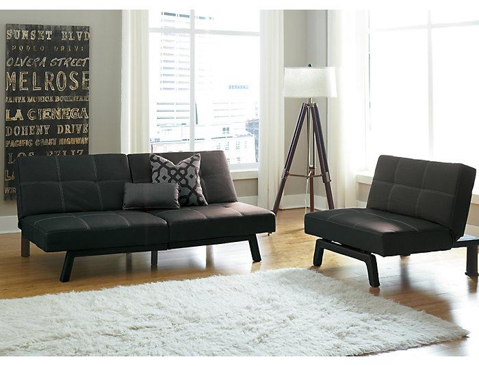 Remarkable Delaney Black Sofa Futon Inzonedesignstudio Interior Chair Design Inzonedesignstudiocom