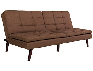 Westbury Brown Sofa Futon, , large
