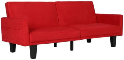 Metro Split Sofa Futon, Red, swatch