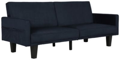 Metro Split Sofa Futon, Blue, swatch