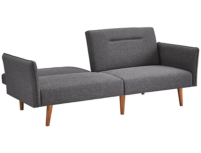 Brent Grey Sofa Futon, , large