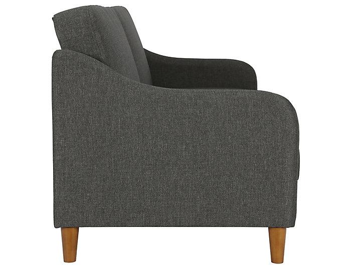 Jasper Grey Sofa Coil Futon, , large