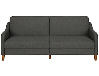 Jasper Grey Sofa Coil Futon, , large