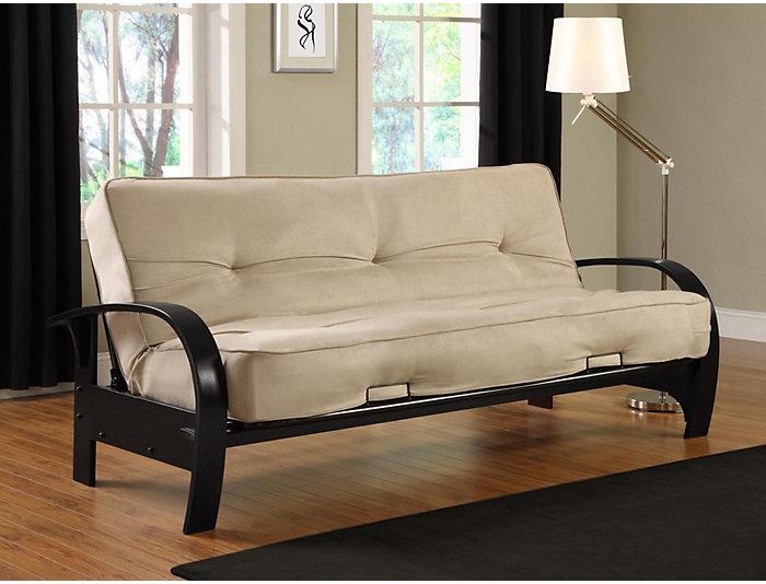 Madrid Tan Tufted Sofa Futon Large
