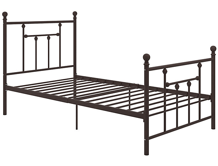Manila Metal Twin Bronze Bed, , large