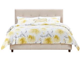 Rose Full Upholstered Bed, Beige, large