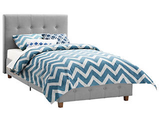 Rose Twin Upholstered Bed, , large