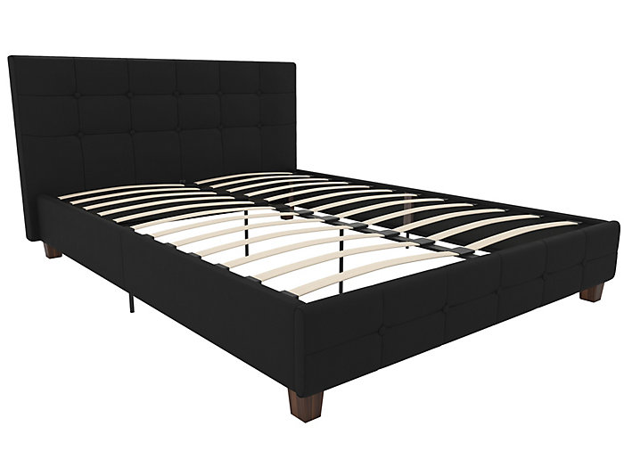 Rose Upholstered Queen Bed, , large