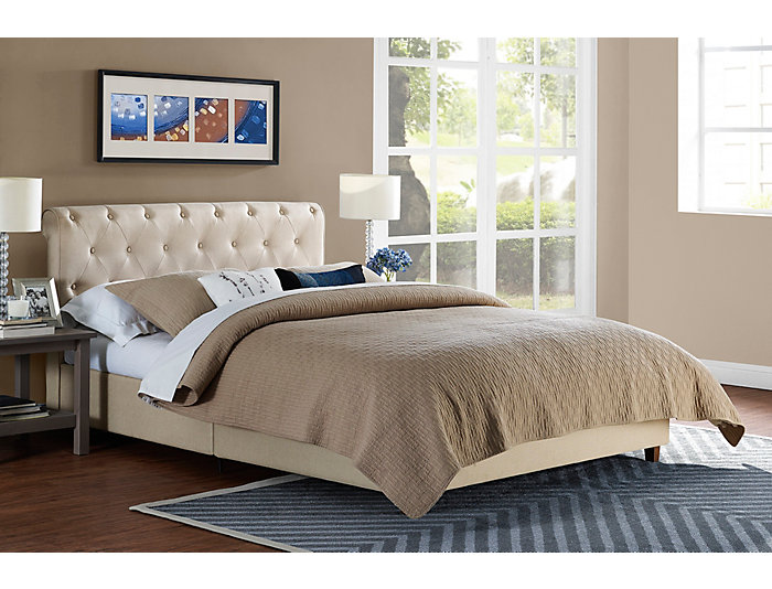 Carmela Full Upholstered Bed, , large