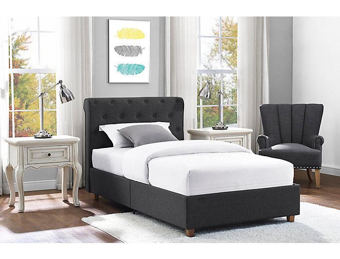 Carmela Twin Upholstered Bed, , large