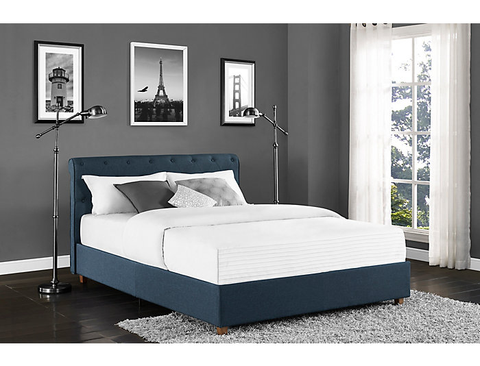 Carmela Full Upholstered Bed, , large
