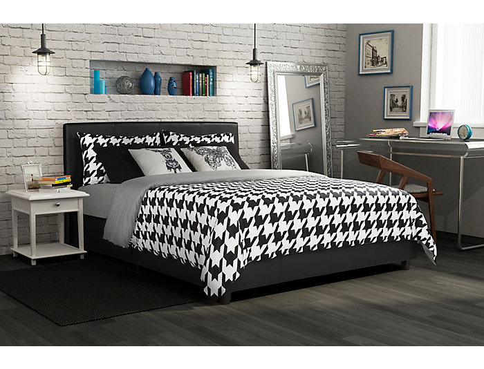 Maddie Queen Upholstered Bed, , large