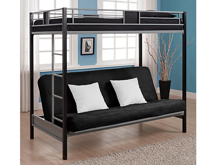 Twin Over Futon Bunk Bed Large