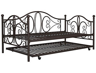 Bombay Twin Daybed and Trundle, Brown, large