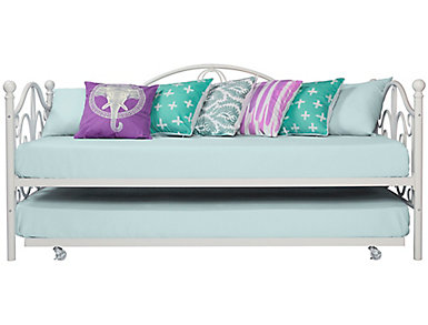 Bombay Twin Daybed and Trundle, White, large