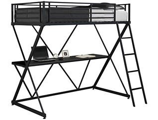 Sam Twin Loft Bunk Bed, , large