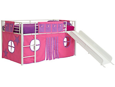 Junior Loft Pink Curtain Set, , large