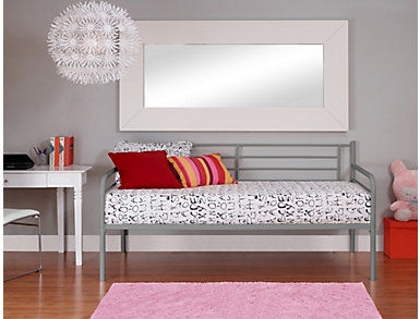 Ryan Silver Twin Metal Daybed, , large