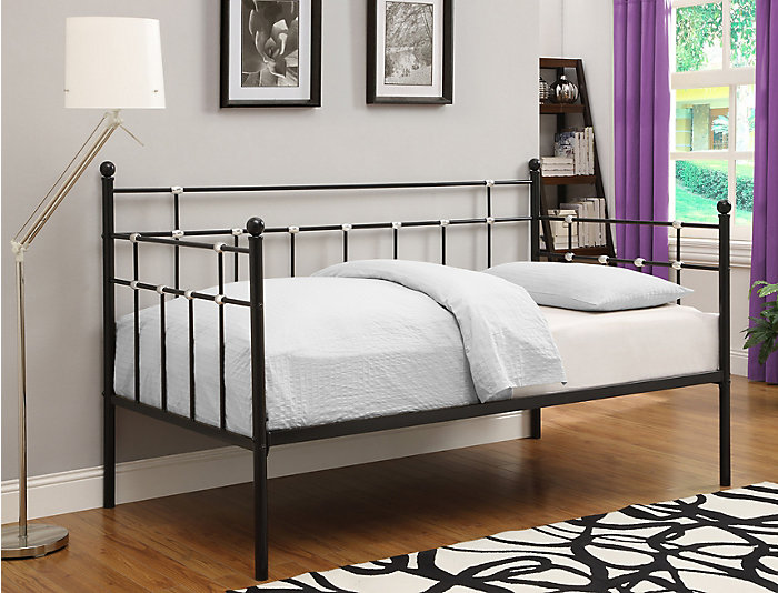 Hayley Black Metal Daybed, , large