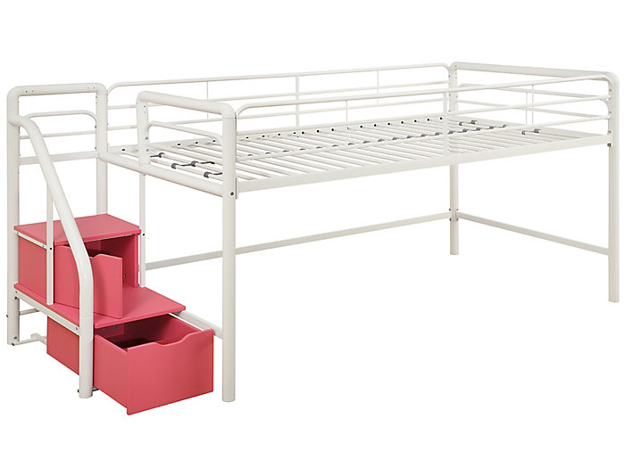 Junior Loft With Storage Steps, , large
