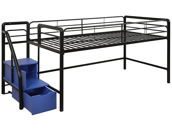 Junior Loft With Storage Steps, , large