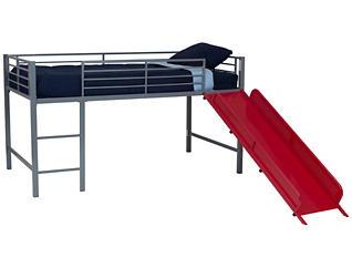 Junior Loft With Red Slide, , large