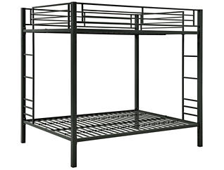Quinn Full Over Full Bunk Bed, Black, large