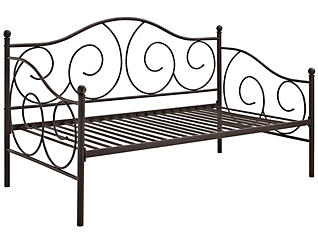 Victoria Bronze Metal Daybed, Brown, large