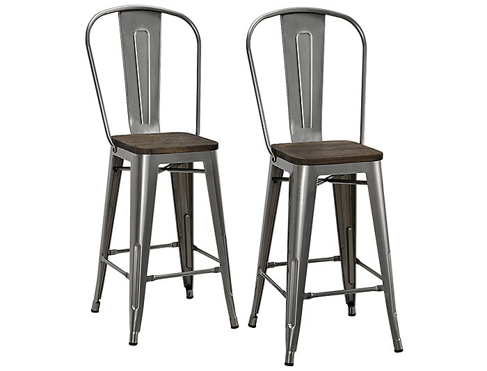 Incredible Luxor Counter Stool Set Of 2 Ocoug Best Dining Table And Chair Ideas Images Ocougorg